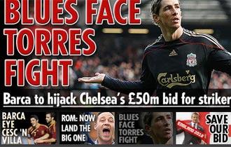 Informaci�n del diario 'The Sun' sobre Torres