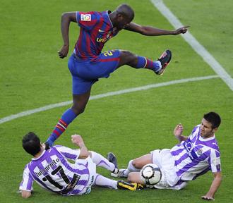 El Valladolid consum� el descenso ante el Barcelona