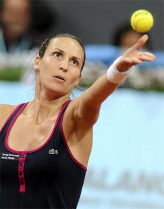 Arantxa Parra en el pasado Madrid Open.