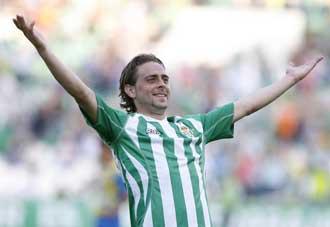 Sergio Garc�a celebra un gol