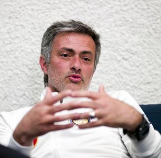 Mourinho, durante la entrevista