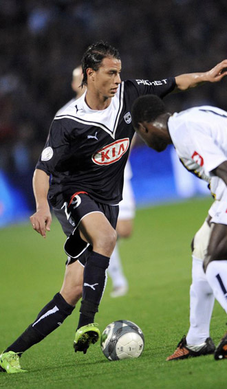 Chamakh, con la camiseta del Girondins.