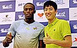 Usain Bolt y Liu Xiang