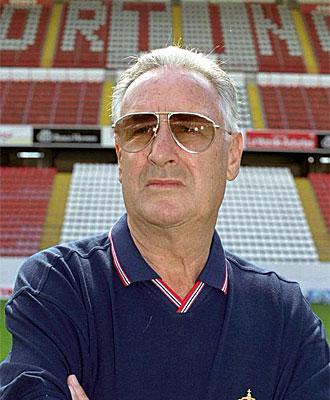 Vicente Cantatore, en su �poca como entrenador del Sporting.