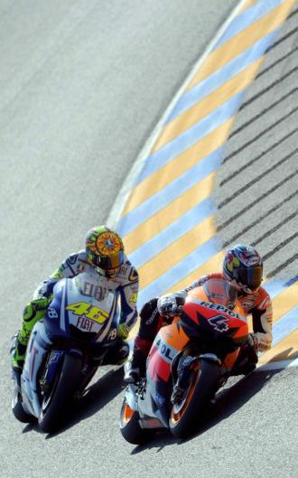 Rossi y Pedrosa, en la calificación de Le Mans