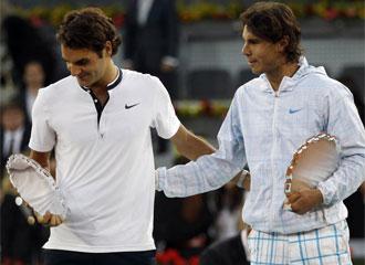 Federer y Nadal, en Madrid.