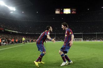 Alves y Messi, dos de los mejores del mundo