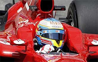 Fernando Alonso, a los mandos del F10 durante el pasado Gran Premio de M�naco