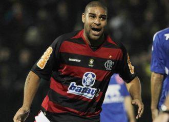 Adriano, con el Flamengo