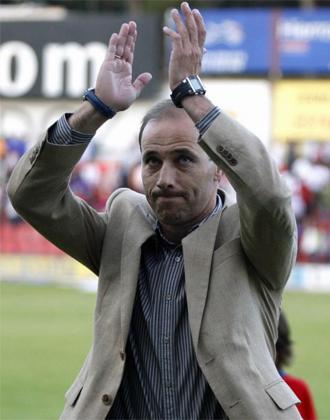 Antonio Calder�n en el partido contra el Sevilla Atl�tico.
