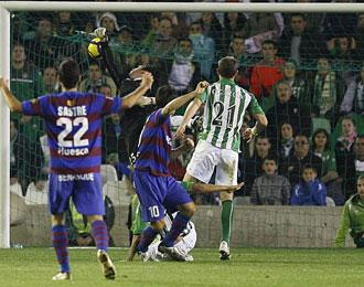 Imagen del partido de la primera vuelta disputado entre el Betis y el Huesca
