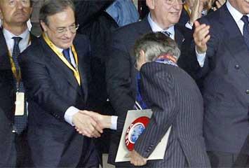 Florentino saluda a Moratti