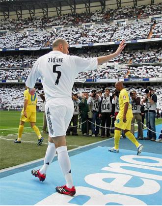 Zidane se emocion� en su �ltimo partido en el Bernab�u.