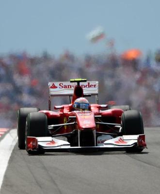 Fernando Alonso durante la carrera en Turqu�a
