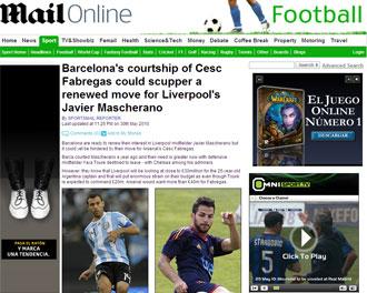 Informaci�n del 'Daily Mail' sobre Mascherano y el Barcelona