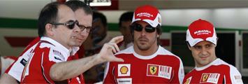 El equipo Ferrari