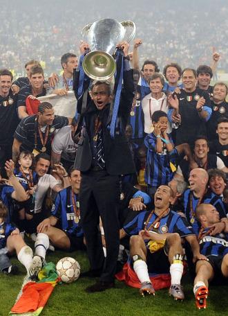 El Inter celebra la consecuci�n de la Copa de Europa en el Bernab�u
