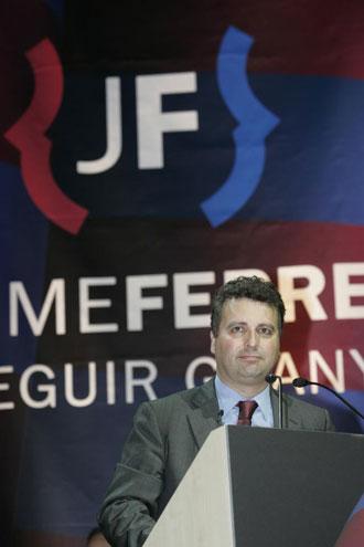 Jaume Ferrer en un acto de campa�a
