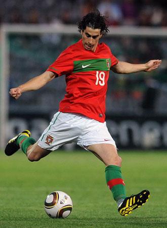 Tiago, en un partido con la selecci�n portuguesa