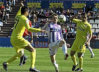 H�ctor Font, en un partido con el Valladolid esta temporada