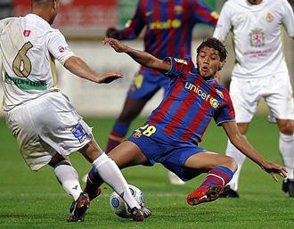 Dos Santos seguir�n en Barcelona m�s a�os
