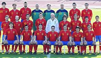 Espa�a se hace la foto oficial para el Mundial