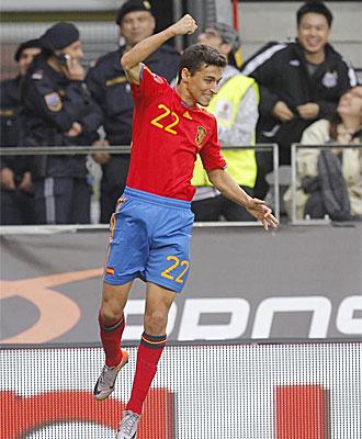 Navas celebra su gol ante Corea del Sur