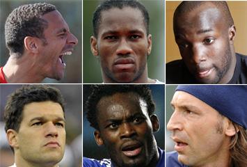 Ferdinand, Drogba, Lass, Ballack, Essien y Pirlo