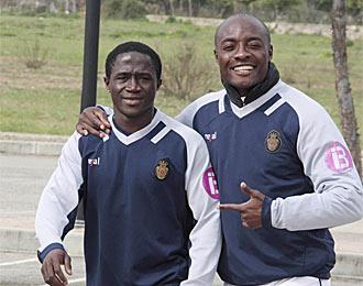Keita y Web�, dos jugadores con los que el Mallorca no cuenta