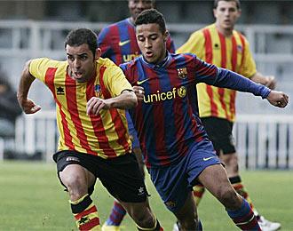 Partido de esta temporada entre Barcelona Atl�tic y Sant Andreu