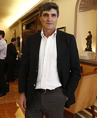Juande Ramos, en el hotel Intercontinental tras reunirse con el Besiktas
