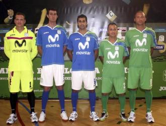 El Inter Movistar present� sus nuevas equipaciones.