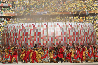 Un momento de la ceremonia de inauguraci�n del Mundial 2010