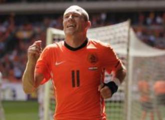 Robben, durante el encuentro ante Hungr�a en el que se lesion�