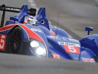 Mansell, en acci�n durante las 24 Hora de Le Mans
