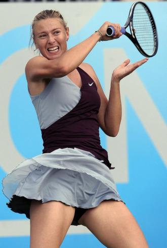 Mar�a Sharapova durante un partido en Birmingham.