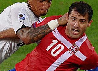 Stankovic, durante el primer partido del Mundial ante Ghana.