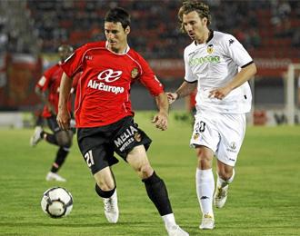 Aduriz, en un partido con el Mallorca de esta temporada