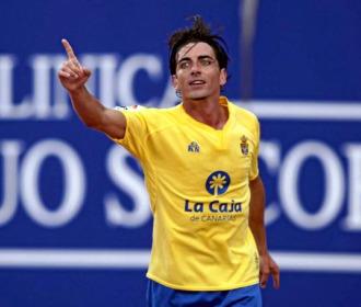 Javi Guerrero celebra un gol.