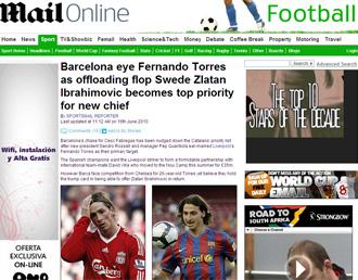 Informaci�n del 'Daily Mail' sobre el inter�s del Bar�a en Torres
