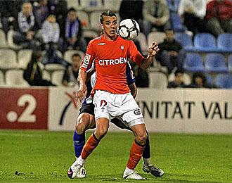 Botelho, en el partido contra el H�rcules esta temporada