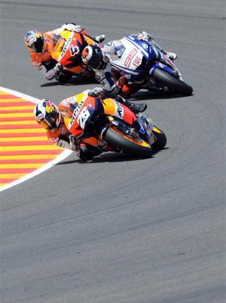 Lorenzo y Pedrosa por delante de Dovizioso