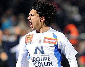 Tino Costa, en un partido con el Montpellier la temporada pasada
