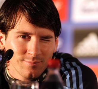 Messi, en una rueda de prensa.