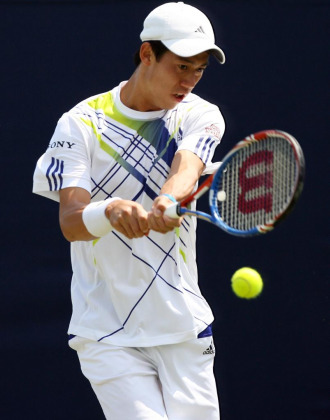 Kei Nishikori, primer rival de Nadal en Wimbledon.