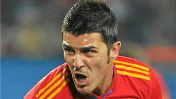 Villa celebra uno de sus goles ante Honduras