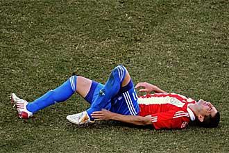 Alcaraz se duele del tobillo contra Eslovaquia.