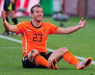 Van der Vaart, durante un partido de Holanda en el Mundial de Sud�frica.