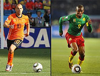 Sneijder y Etoo, compa�eros en el Inter, se ver�n las caras en Ciudad del Cabo.