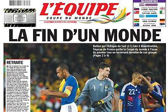 Portada del día 23 de junio del diario L'Equipe